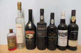 1 bottle 2007 Tanners Vintage Port, 1 bottle Cockburn's Special Reserve Port, 1 litre Baileys