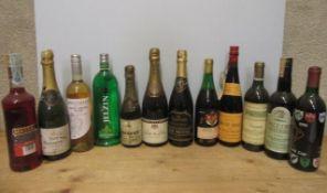 1 bottle Himandois Champagne, 1 half bottle Bouvet Mousseux, 1 bottle Anjou Rose, 1 bottle