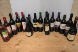 16 various wines, including 2 bottles 2008 Hardy's Varietal Range Shiraz, 2 bottles 2006 J. P.