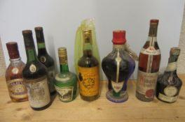 A quantity of liqueurs comprising 2 bottles 1967 Cordier, 1 bottle Glayva Scotch Liqueur, 1 50cl