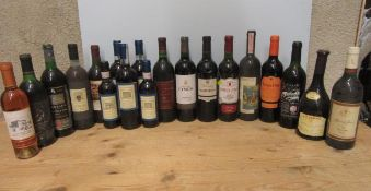 16 bottles and 3 half bottles of various French and other European wine, including 1 bottle 2011