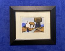 """J.P. ROONEY (B.1947) """"THREE TREES COTTAGE"""" oil on board, signed lower left, 23cm x 33cm approx"""