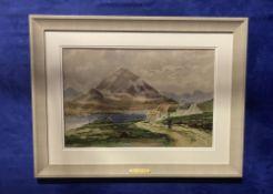 "ANNE P. JURY (1907 to1995) ""RETURNING HOME ERRIGAL"" watercolour, 33cm x 50cm approx image, 53cm x"