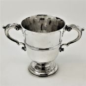 AN IRISH 18TH CENTURY SILVER TWO HANDLED CUP, Dublin, circa 1760 by William Townsend, the two