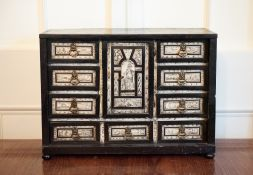 AN IMPORTANT 17TH CENTURY ITALIAN TABLE CABINET, inlaid in ivory, c.1660 to 1680, with an
