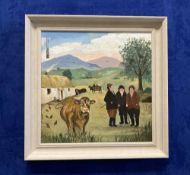 JOHN SCHWATSCHKE (IRISH B. 1943) THE DILEMMA, oil on canvas, artist's monogram upper left, artist'