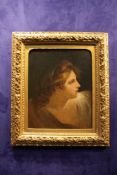 ATTRIBUTED TO ANGELICA KAUFFMAN RA (SWISS 1741 – 1807) PORTRAIT OF A WOMAN WITH GREEN RIBBON, oil on