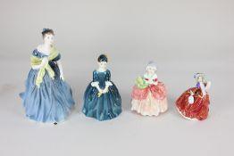 Seven Royal Doulton porcelain figures of ladies, comprising 'Adrienne', 'Cherie', 'Cissie', '