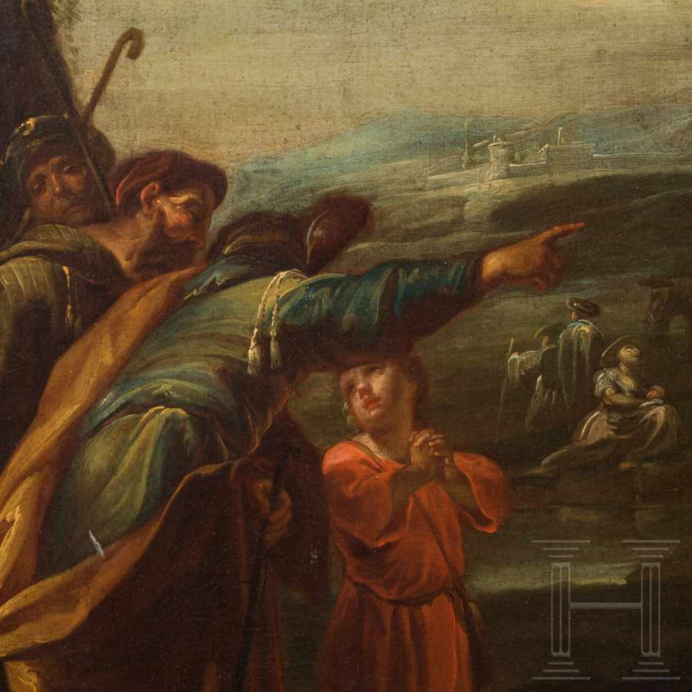Lot 8 - An Italo-Flemish Old Master of a southern landscape with figures, 17th centuryOil on canvas.