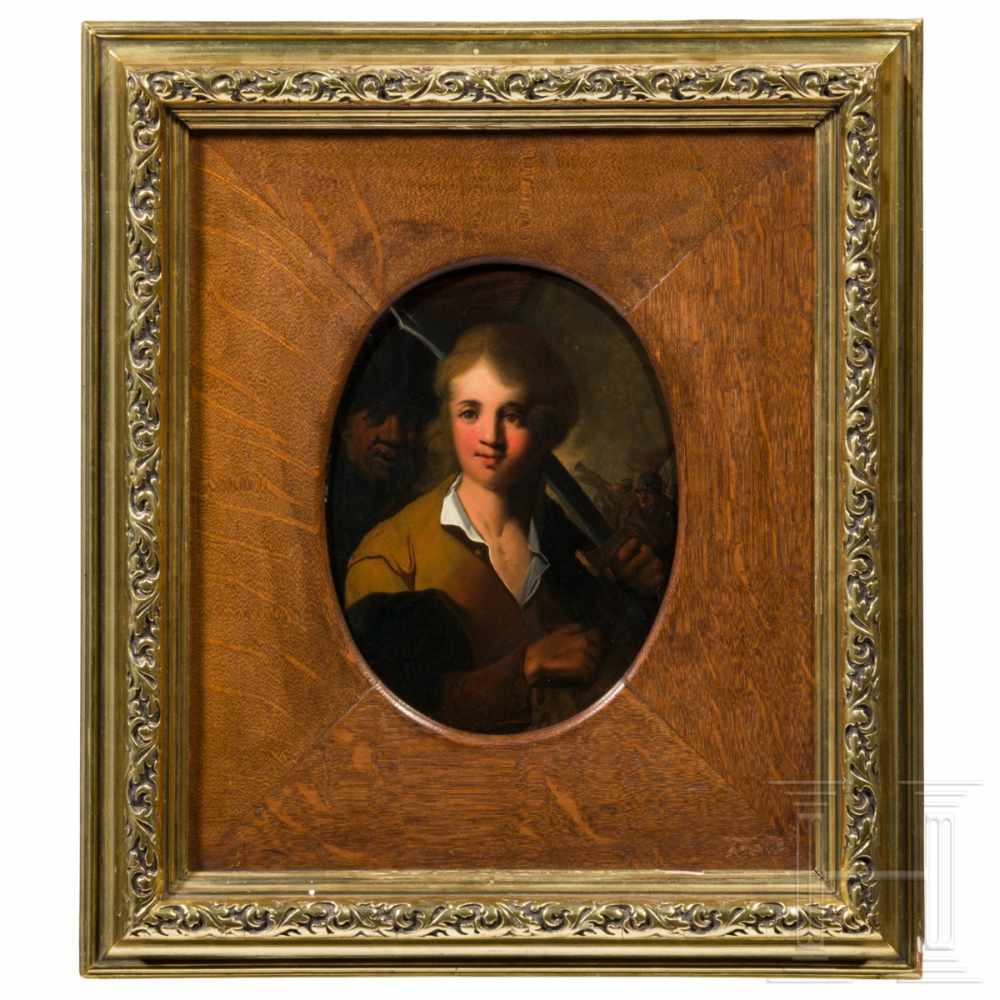 Lot 27 - Edward Alcock (1745 – 1778) - An English painting of a lansquenet, 18th centuryOil on copper. Signed