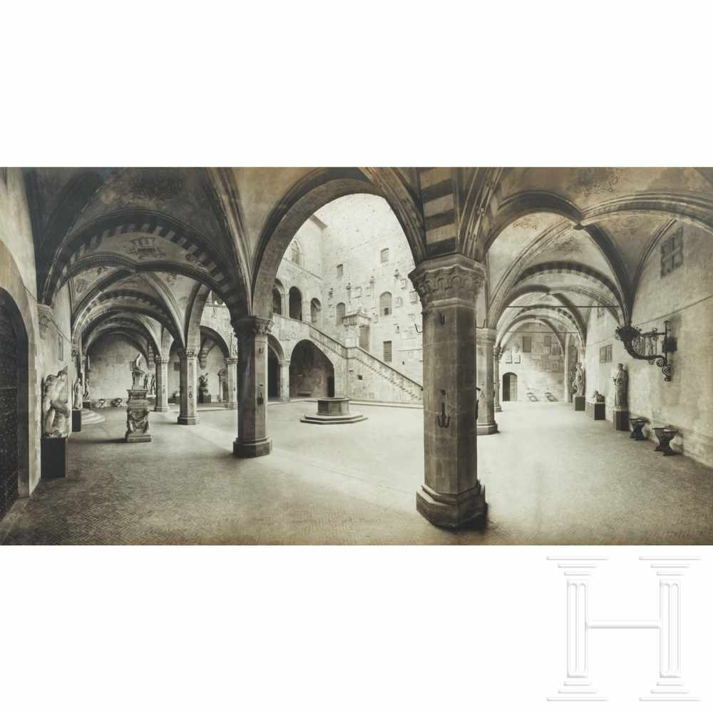 Lot 53 - An impressive probably Italian photo of the National Museum Bargello in Florence, circa 1900Large