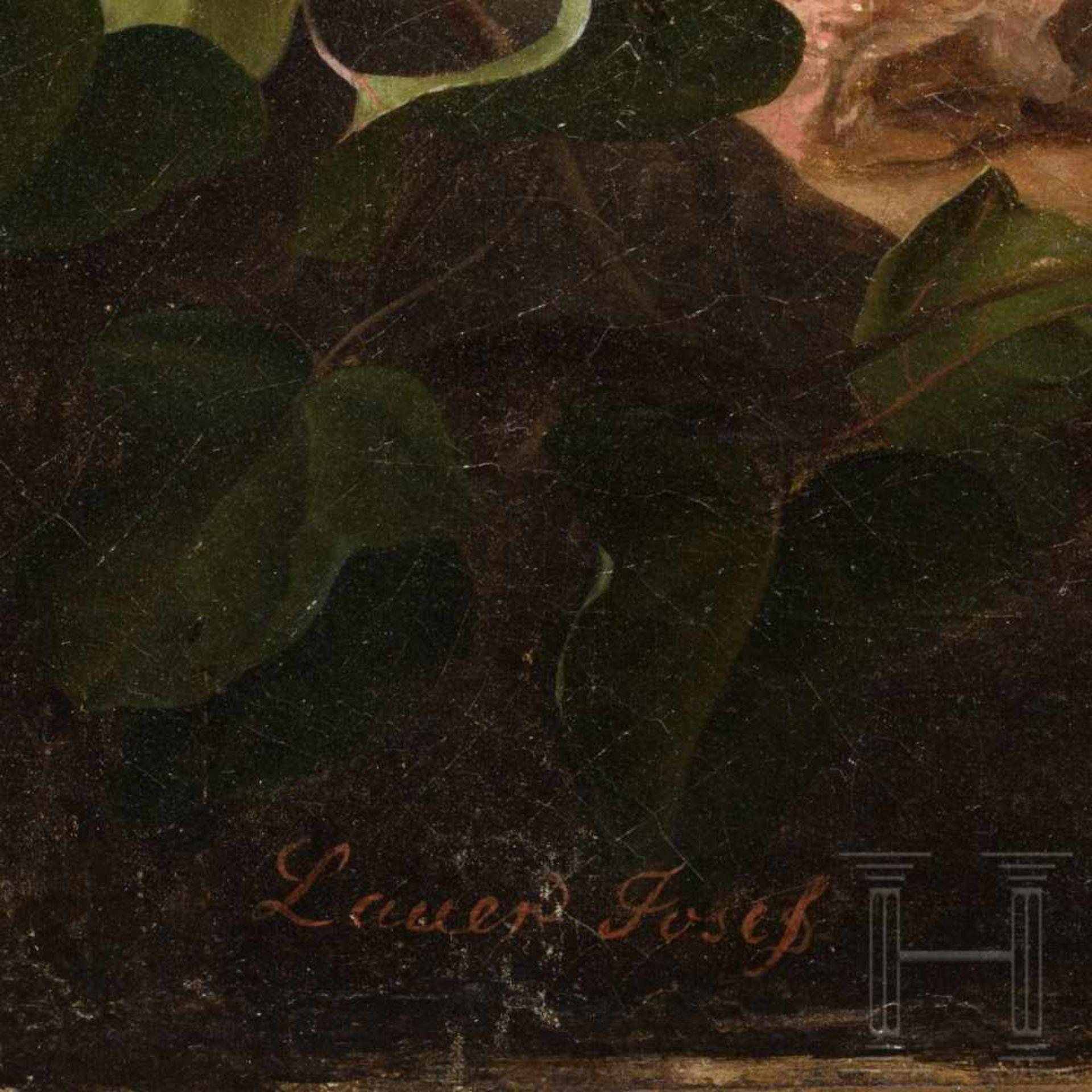Los 48 - Josef Lauer (1818 – 1881), Vienna, a fruit still lifeÖl auf Leinwand, doubliert. Hochformatiges