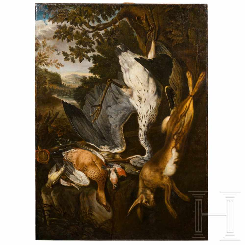 Lot 20 - A large hunting still-life in the manner of Johann George de Hammilton, southern German, early