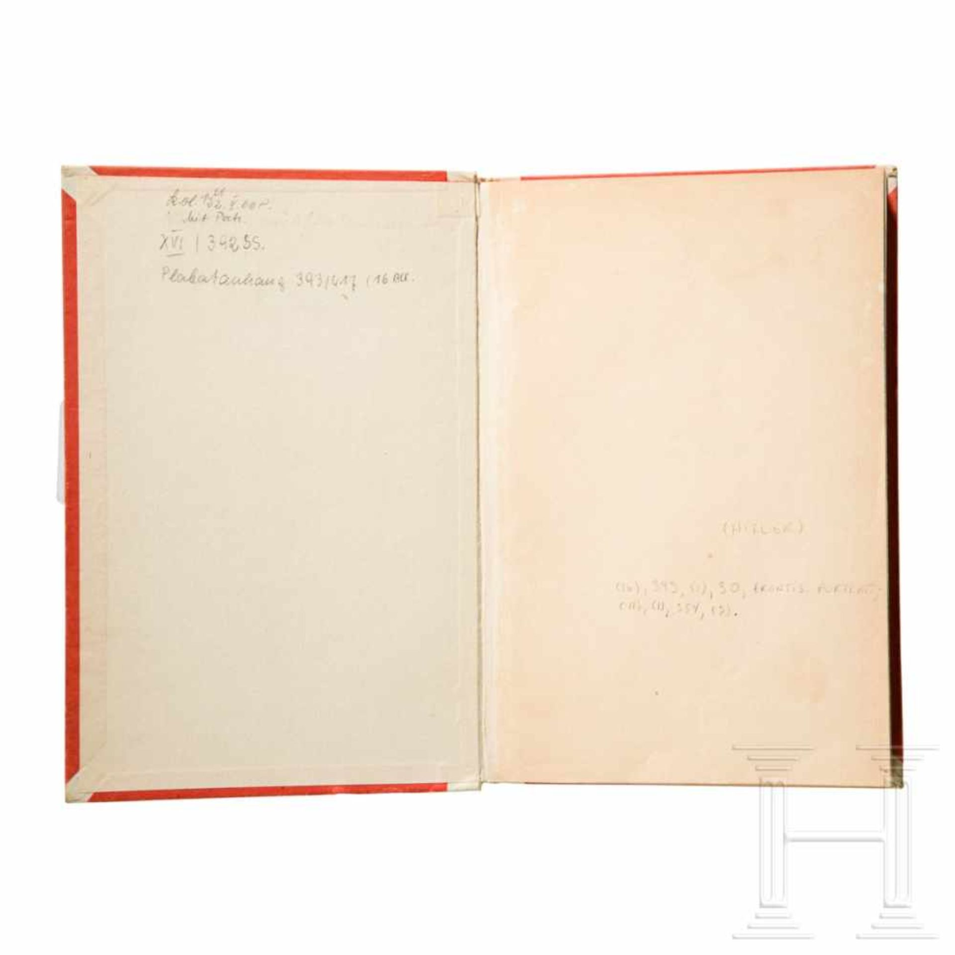 """Los 6055 - Philip Ben Lieber – a personal first edition of """"Mein Kampf"""", volume II, from Hitler's apartment"""