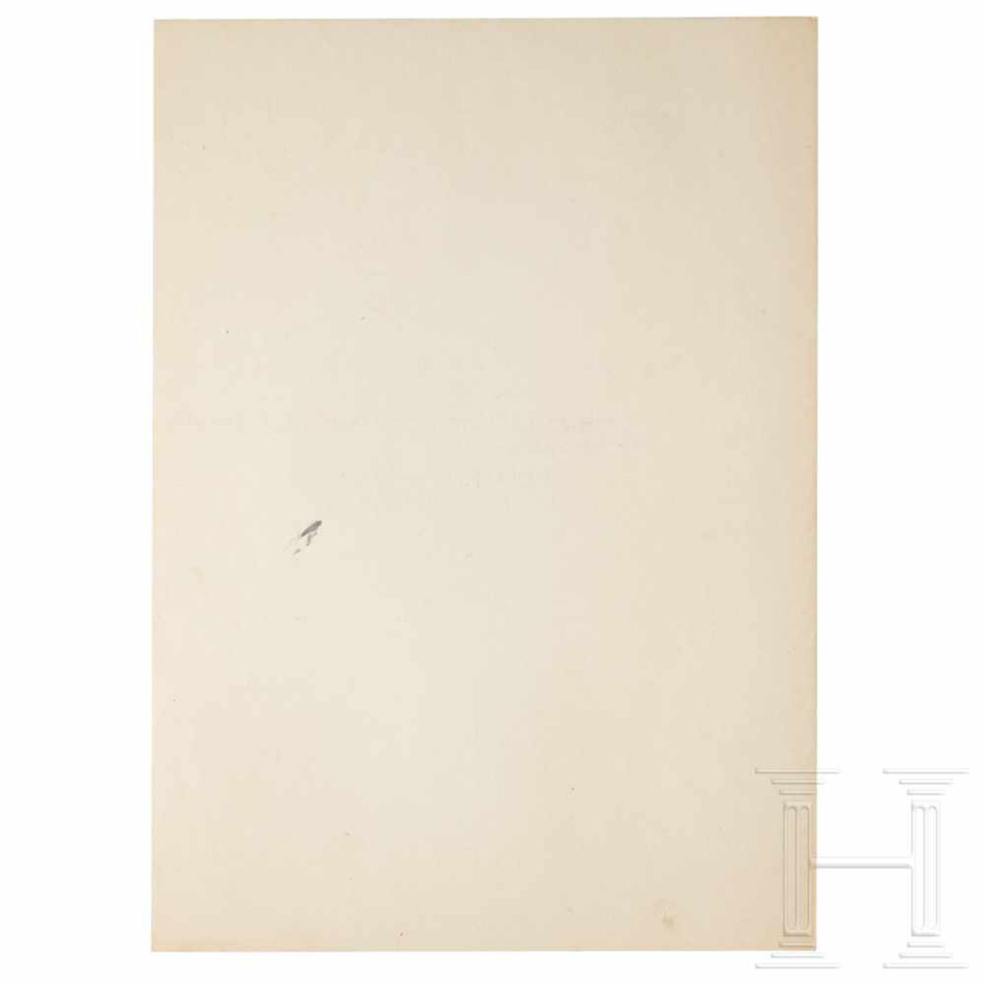Los 6022 - Göring's certificate of appointment to Reichsminister without portfolio and to Reichskommissar for