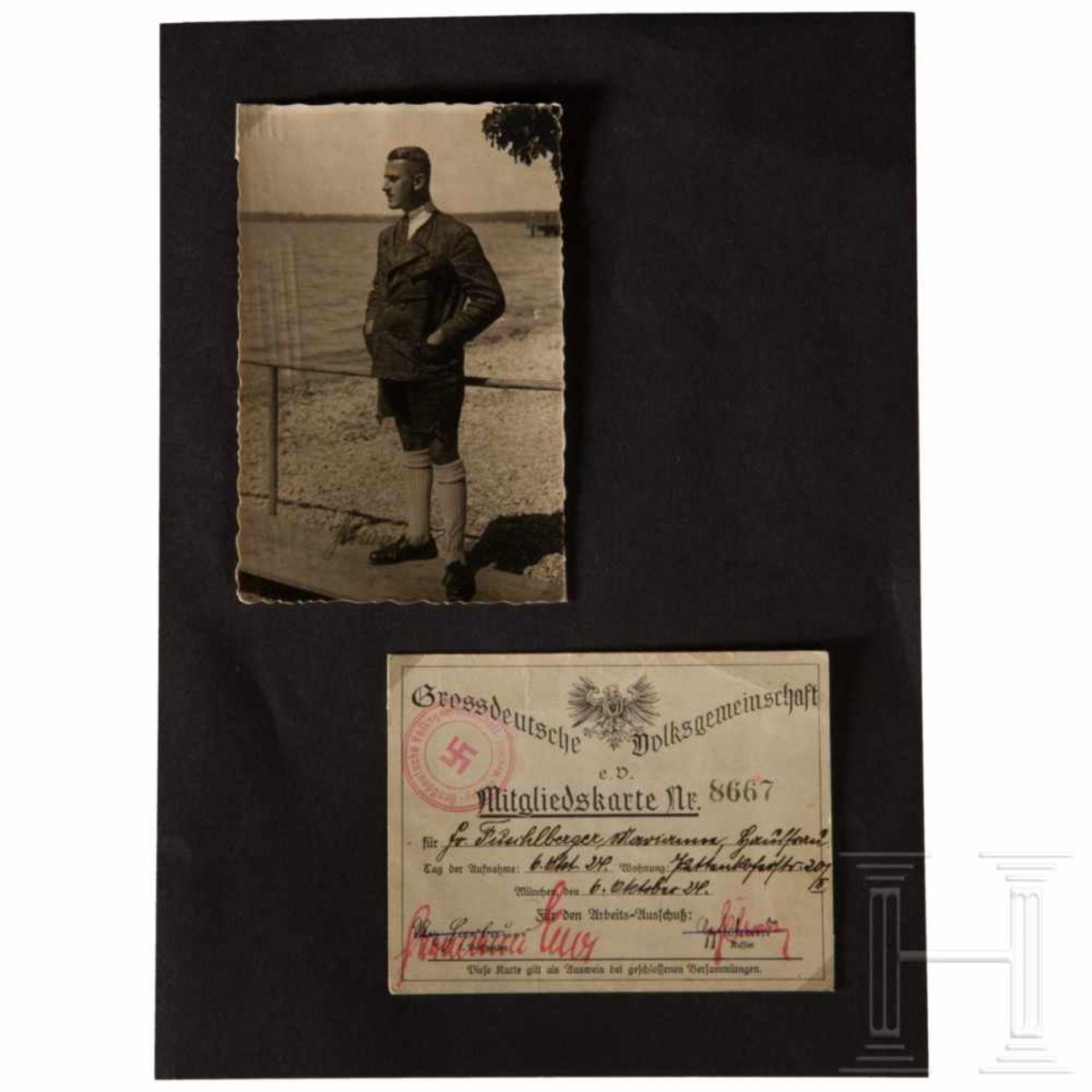 """Los 6016 - Hermann Esser - Autograph auf FotoPostkartengroßes Foto mit eigenhändiger Tintensignatur """"Hermann"""