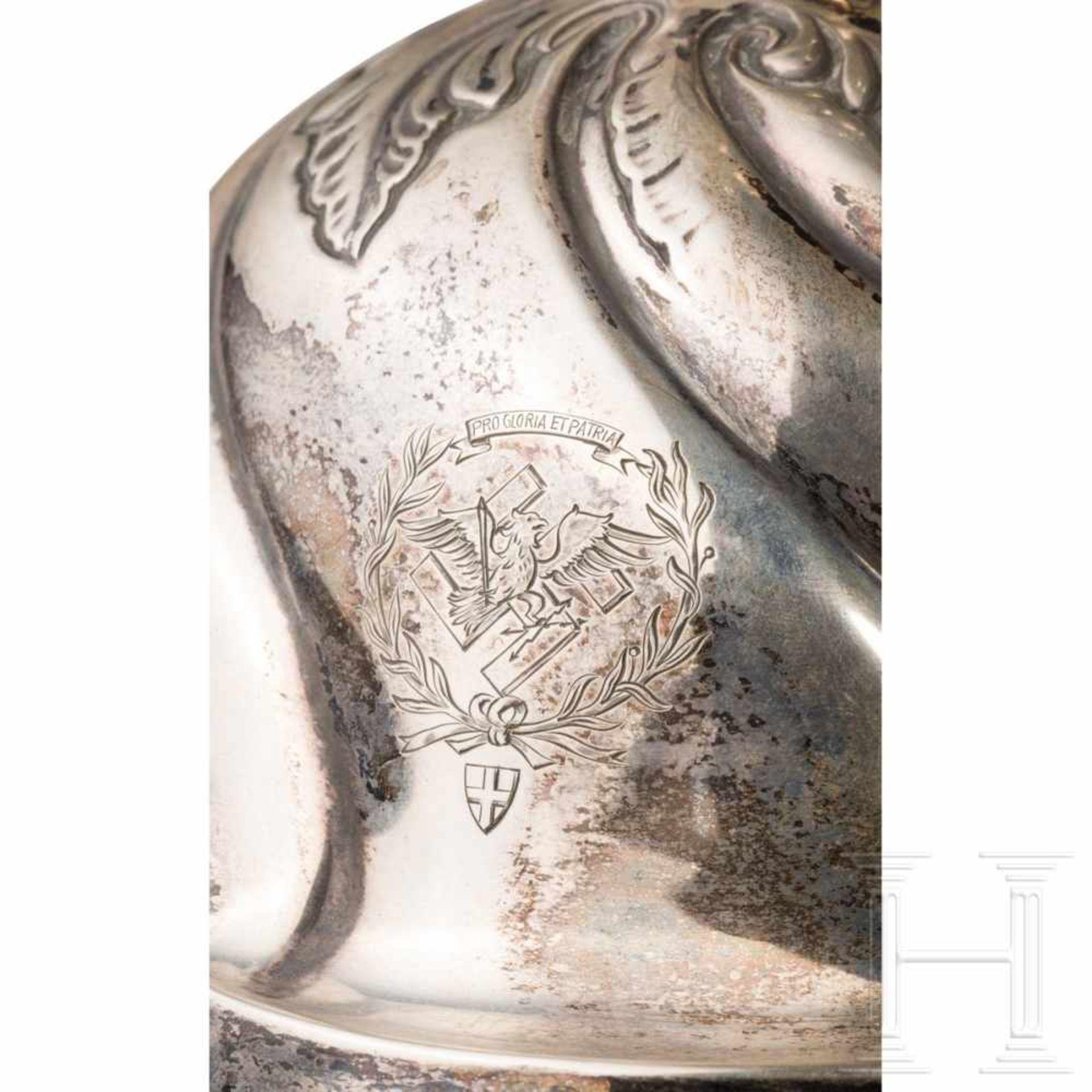 Los 6043 - Hermann Göring - Silberleuchter im BarockstilAusladender Glockenfuß, der Schaft dreifach durch