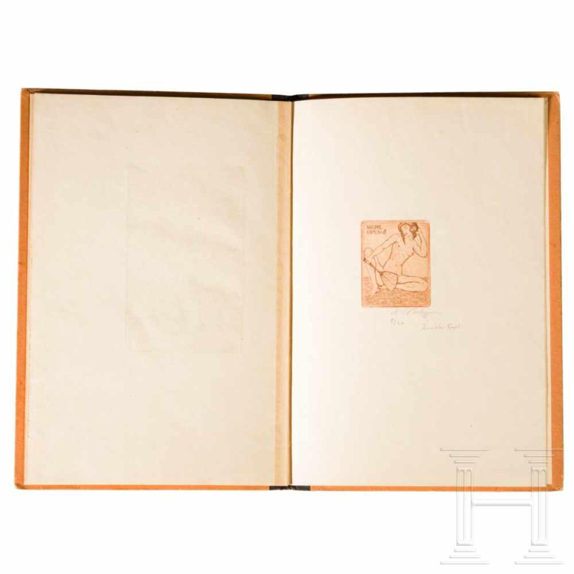 """Los 6045 - Hanns Rudolf Klimas - """"Das Mädchen in dem Porzellanturm"""" with book plate Hermann GoeringNach H. de"""