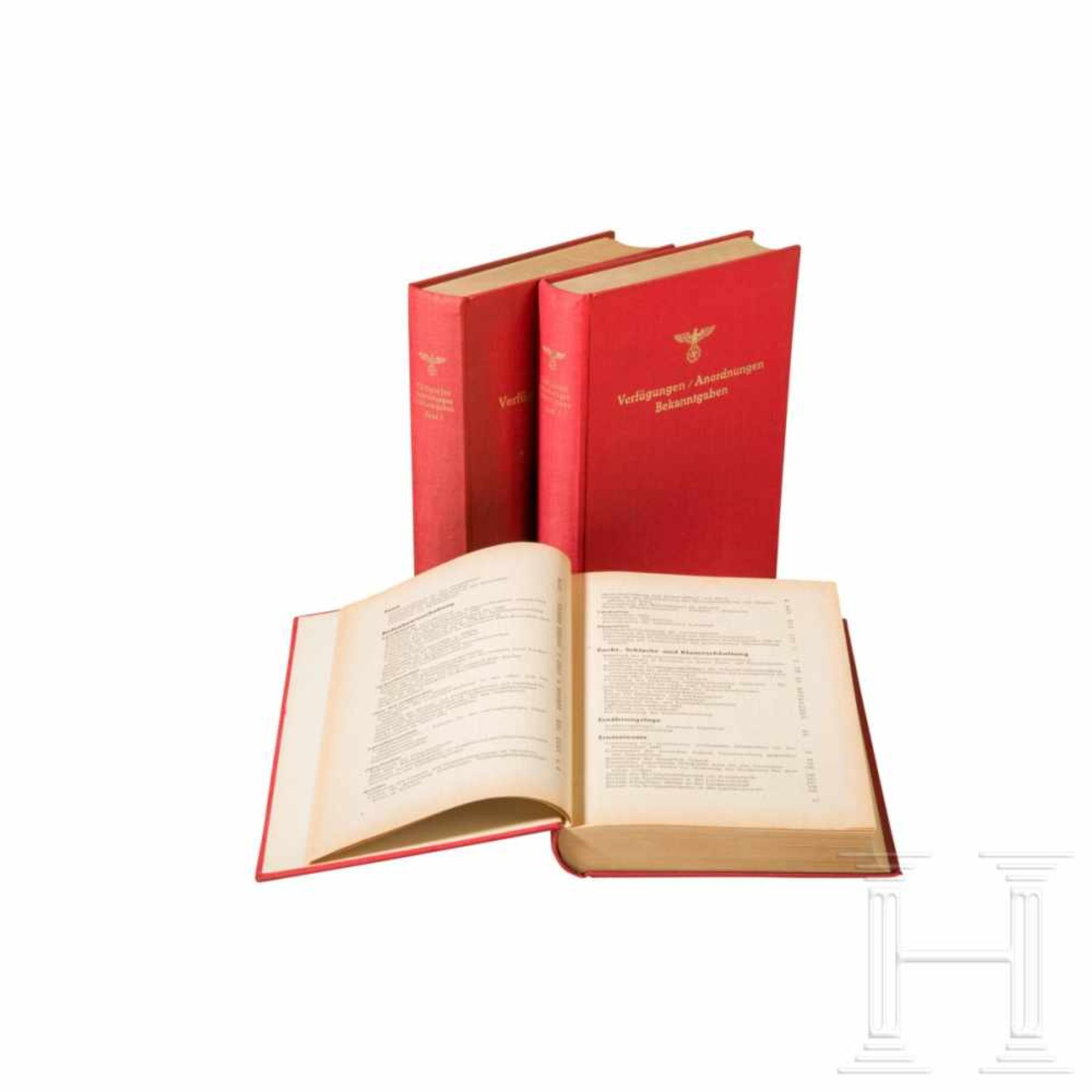 """Los 6010 - """"Verfügungen - Anordnungen - Bekanntgaben"""", Band I bis III, herausgegeben von der Partei-"""