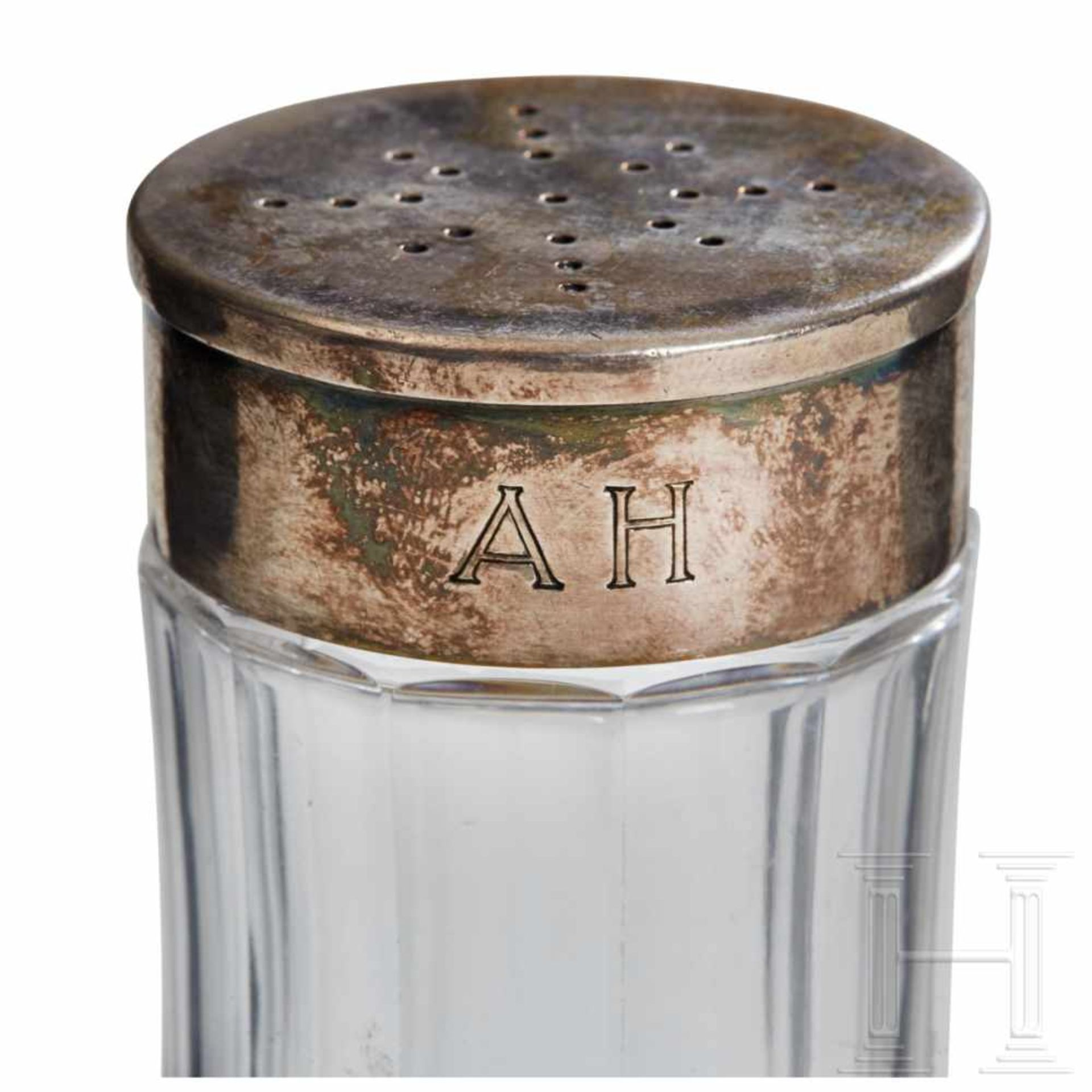 Los 6057 - Adolf Hitler – a Sugar Shaker from his Personal Silver ServicePolished crystal glass with a silver