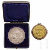 Silbermedaille auf Wilhelmina, Königin der Niederlande (1890 - 1948), Niederlande