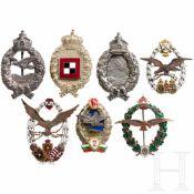 Volksrepublik Bulgarien, Abzeichen für Flugzeugführer der 2. Klasse und sechs weitere
