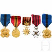 Fünf Auszeichnungen, Belgien, 20. Jhdt.