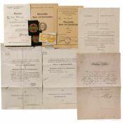 Große Gruppe Urkunden zu Auszeichnungen, Österreich 1. und 2. Republik
