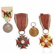 Zwei französische und zwei polnische Auszeichnungen, 19./20. Jhdt.