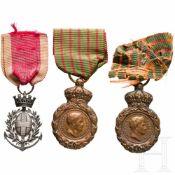Drei Medaillen, Frankreich, 19. Jhdt.