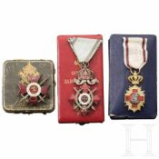 Bulgarien - Orden für Tapferkeit Kreuz 4. Klasse 1. Stufe mit Schwertern