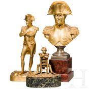 Napoleon I. - drei Bronzefiguren, 19./20. Jhdt.