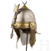 Seltener Helm der Khediven-Leibwache, 2. Hälfte 19. Jhdt.