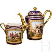 Kaffeekanne und Zuckerdose der Manufaktur Sèvres, um 1807
