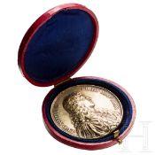 Ludwig XIV. - Vergoldete Silbermedaille auf das Bündnis mit der Schweiz, 1663Silber, vergoldet.