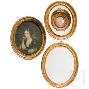 Ein Satz von vier ovalen klassizistischen Rahmen, Frankreich, 19. Jhdt.