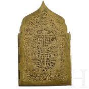 Bronzene Reiseikone, Russland, 19. Jhdt.