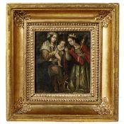 Altmeisterliches Gemälde Maria mit dem Jesuskind, Spanien oder Südamerika, 17./18. Jhdt.