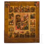 Ikone, Auferstehung Christi, Russland, 19. Jhdt.