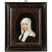 Altmeister-Gemälde einer Äbtissin, wohl Frankreich, 17. Jhdt.