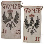 Zwei Jagdlappen des Georg Wilhelm Markgraf von Brandenburg, 1717
