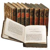 Neun Bände aus dem Werk James Fenimore Coopers