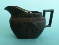1805 Nelson in Memoriam: a black basalt sauce boat, 78mm