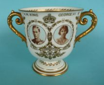 1937 Coronation: a Royal Crown Derby loving cup, 115mm