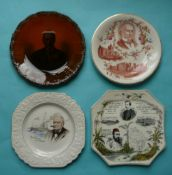 Plates for Gladstone, Joseph Chamberlain, Winston Churchill and an Octagonal for H.M. Stanley