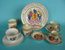 1935 Empire Exhibition: six commemoratives by Paragon and a Sutherland China cup and saucer (11)