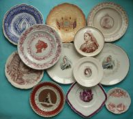 Victoria: nine plates, two side plates and a teapot stand (12)