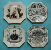 Octagonal plates for statistics, and Victoria by Hines, also Victoria and Albert Victor