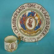 1938 Chamberlain and Munich Peace: a mug and a plate both by Paragon (2)