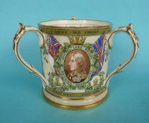 1905 Nelson Centenary: a Copeland Subscribers Copy pottery tyg, 136mm